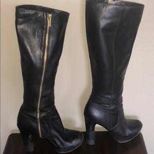 Michael Kors Size 7 Tall Black Boots
